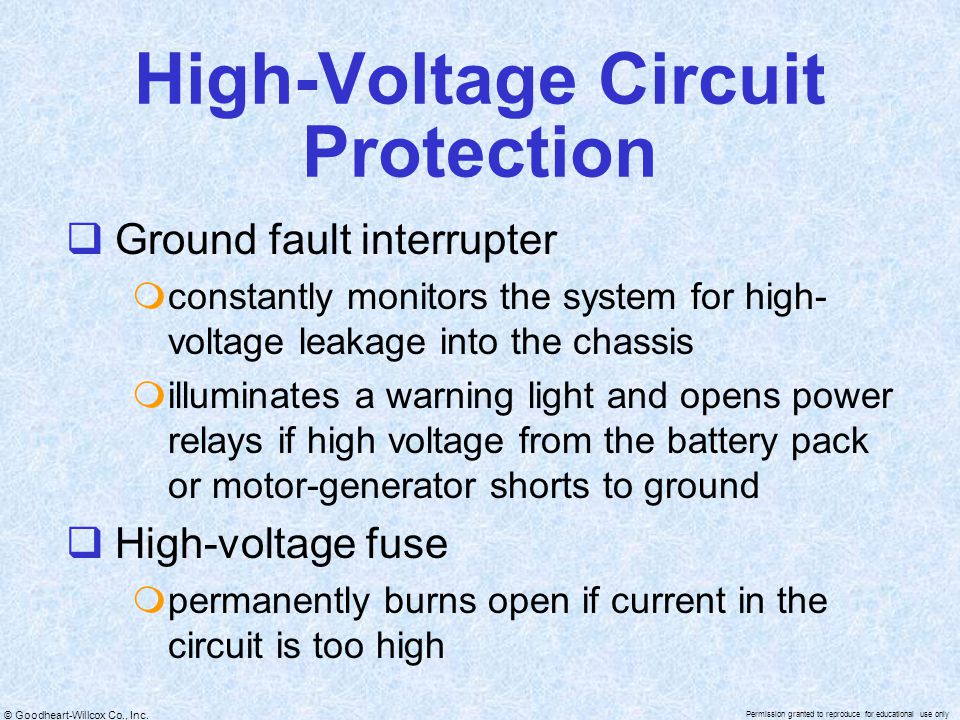 High-Voltage Circuit Protection