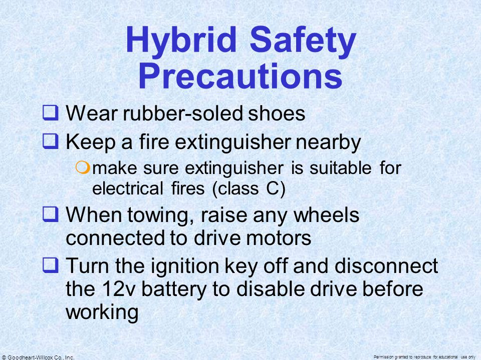 Hybrid Safety Precautions