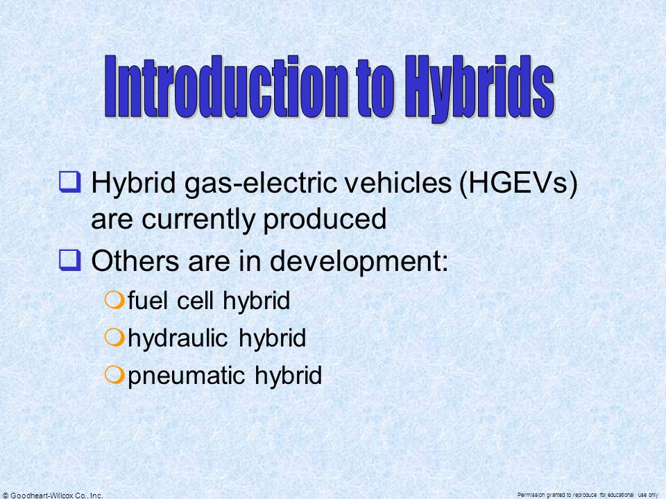 Introduction to Hybrids