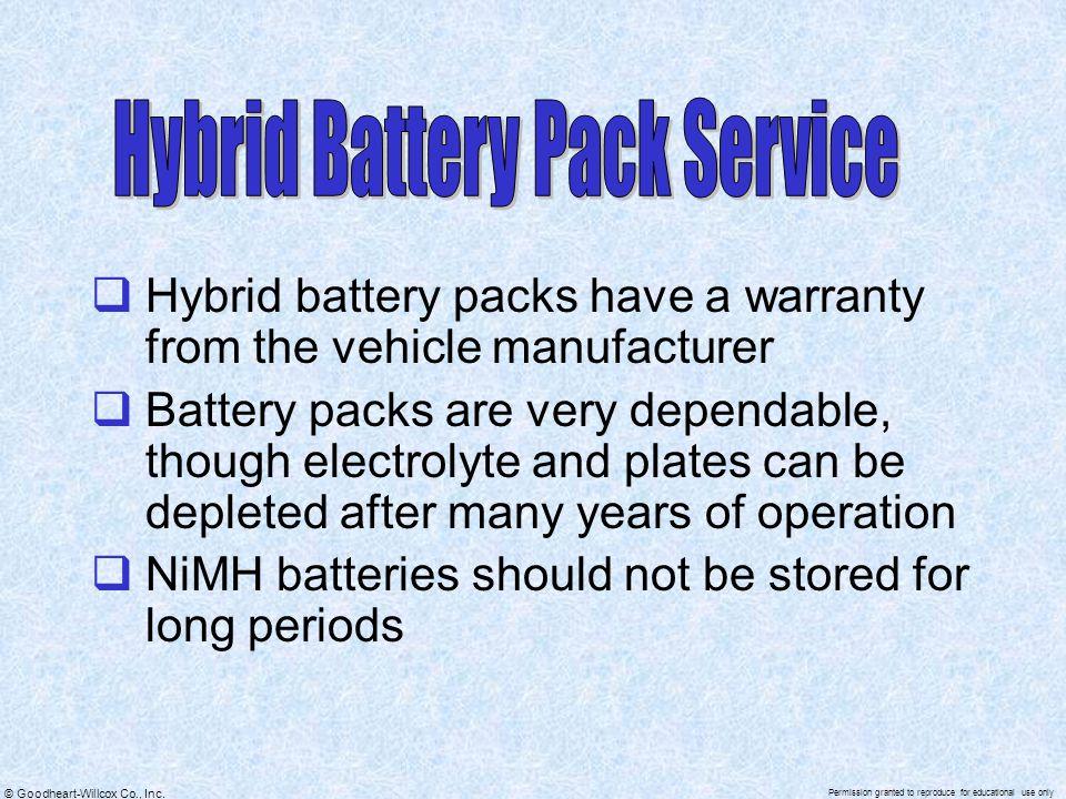 Hybrid Battery Pack Service