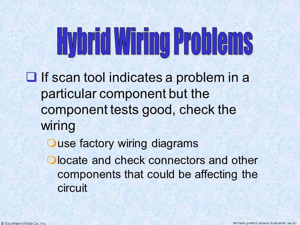 Hybrid Wiring Problems