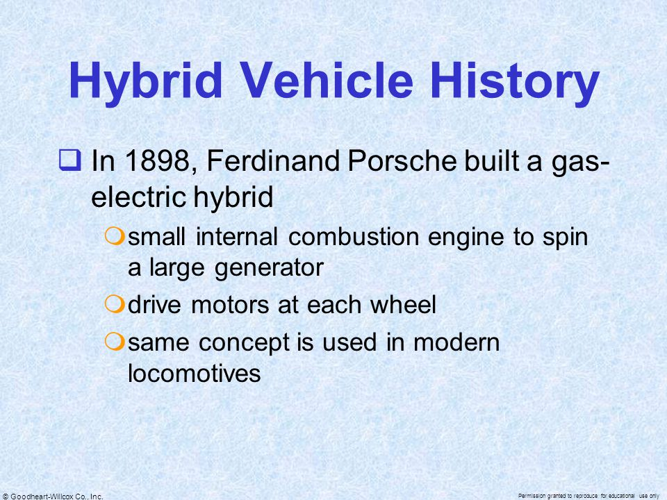 Hybrid Vehicle History