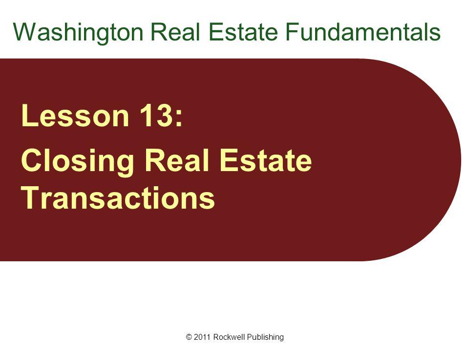 Washington Real Estate Fundamentals