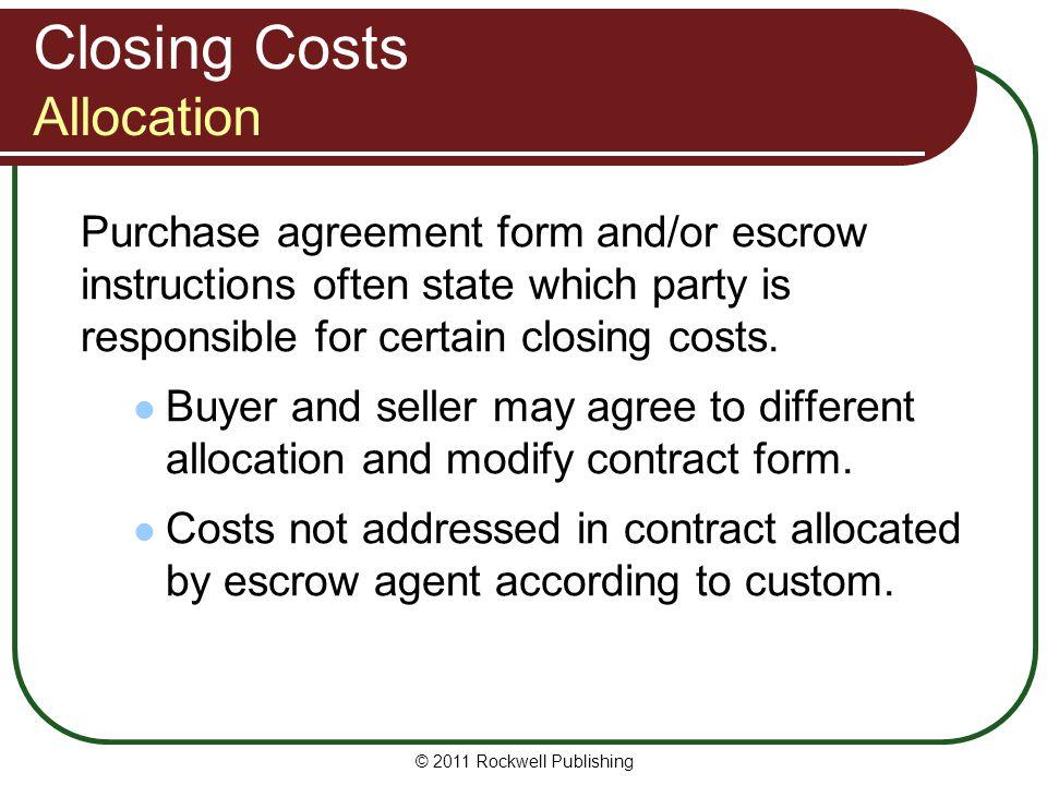 Closing Costs Allocation