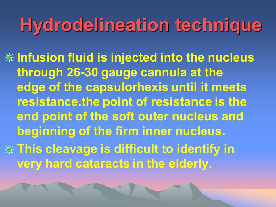 Hydrodelineation technique