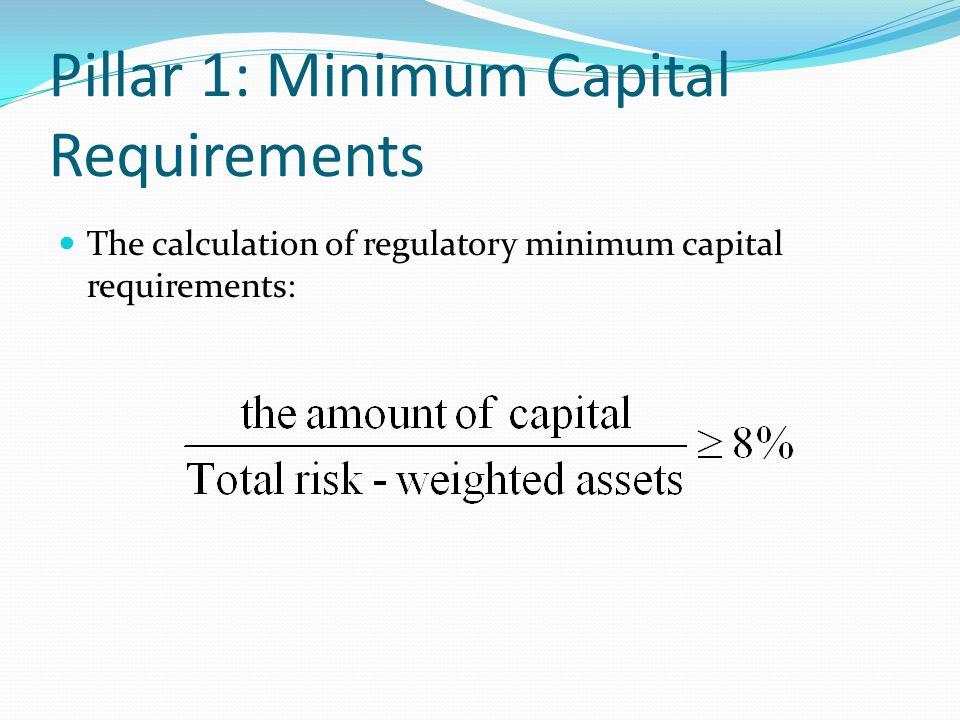 Pillar 1: Minimum Capital Requirements
