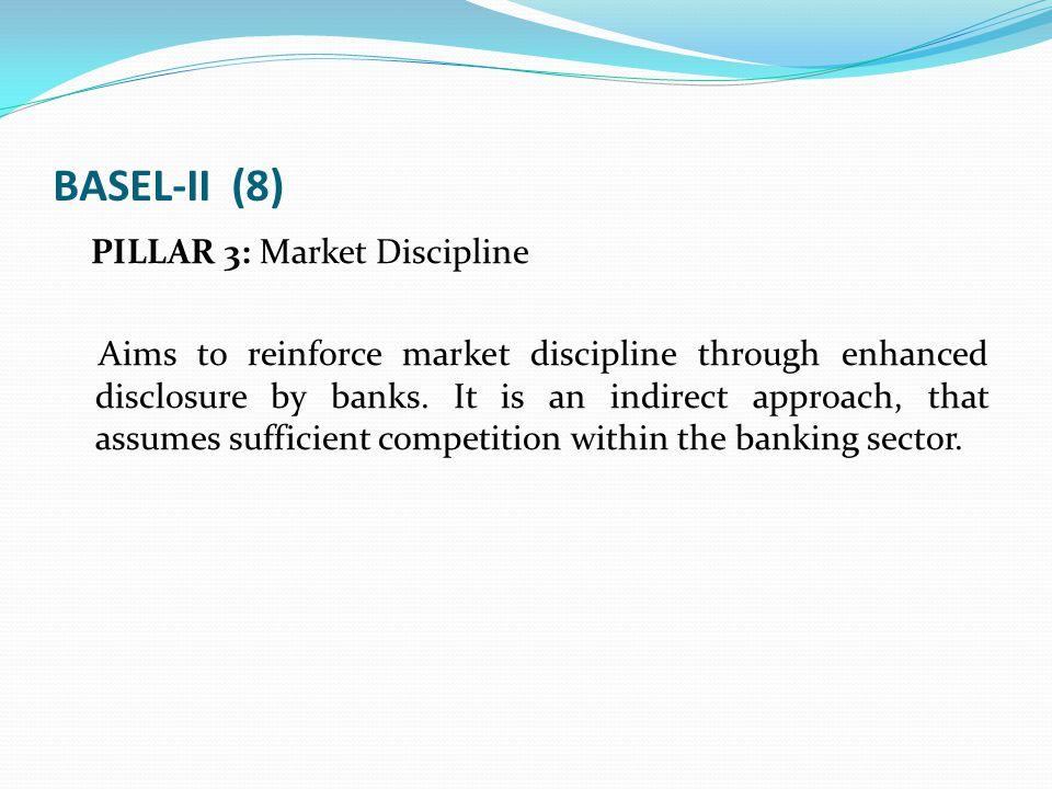 BASEL-II (8) PILLAR 3: Market Discipline