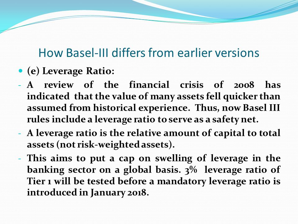 How Basel-III differs from earlier versions