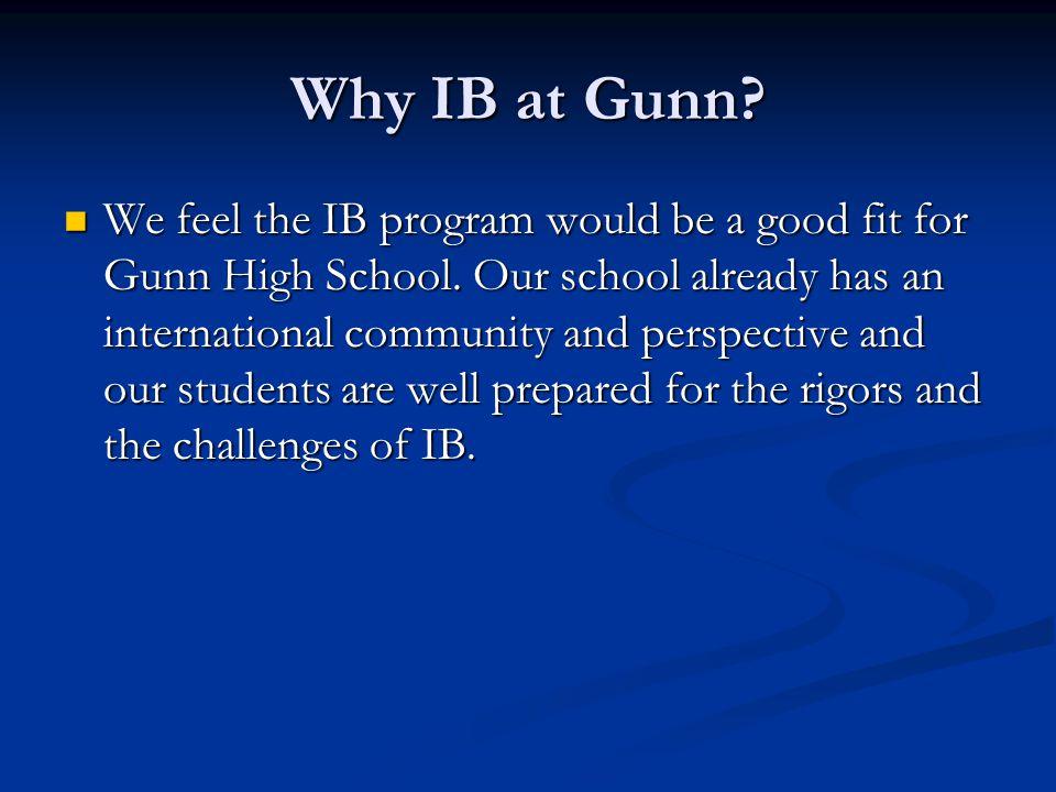 Why IB at Gunn