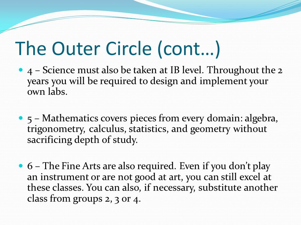 The Outer Circle (cont…)