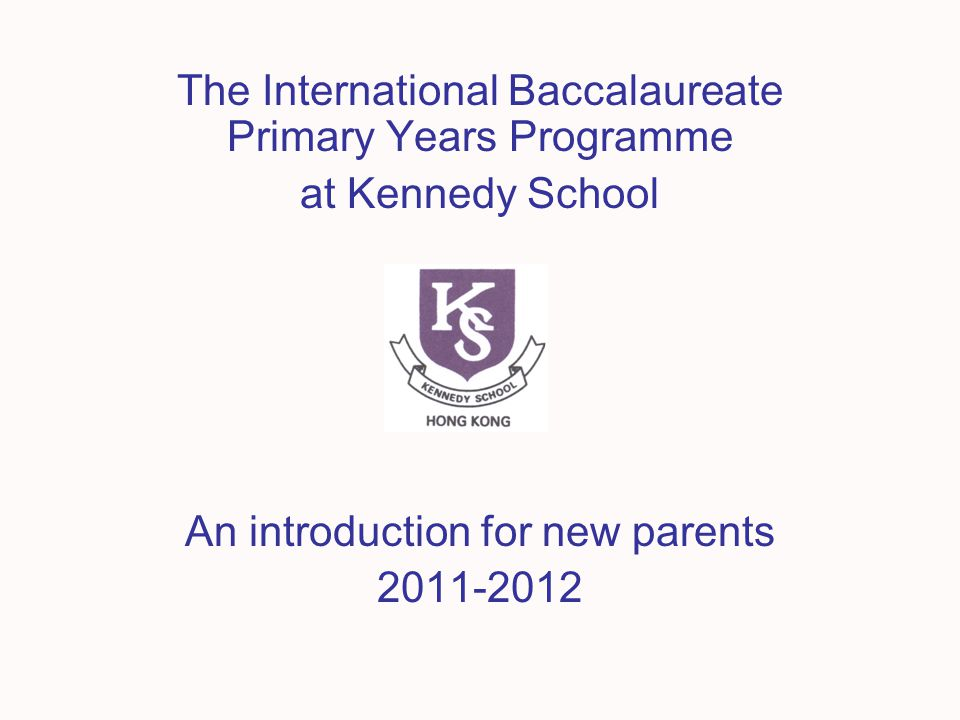 The International Baccalaureate Primary Years Programme