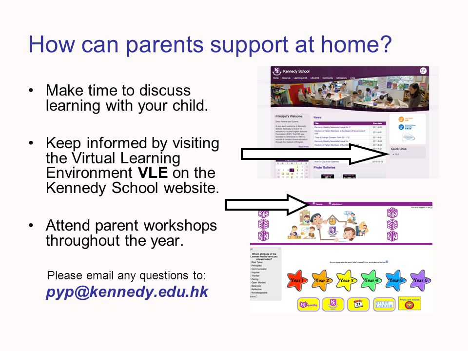 How can parents support at home