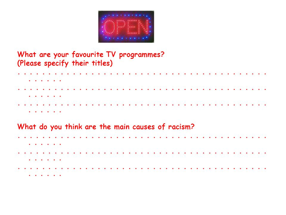 What are your favourite TV programmes