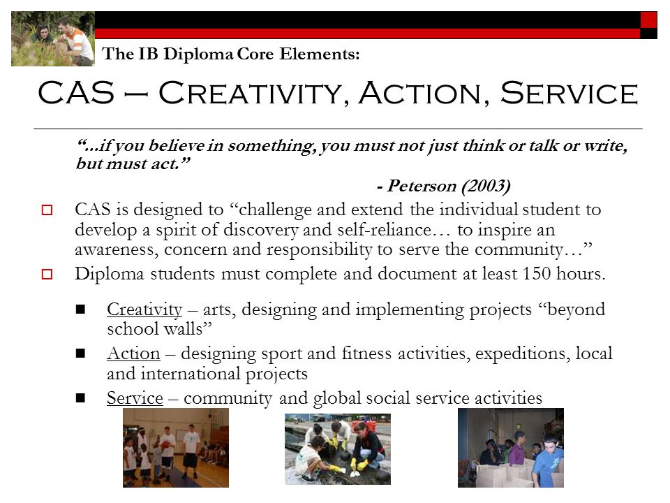 CAS – Creativity, Action, Service