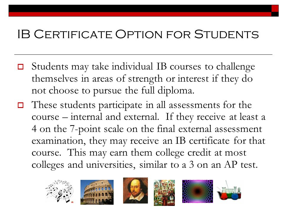 IB Certificate Option for Students