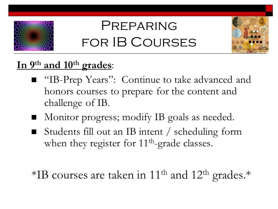 Preparing for IB Courses