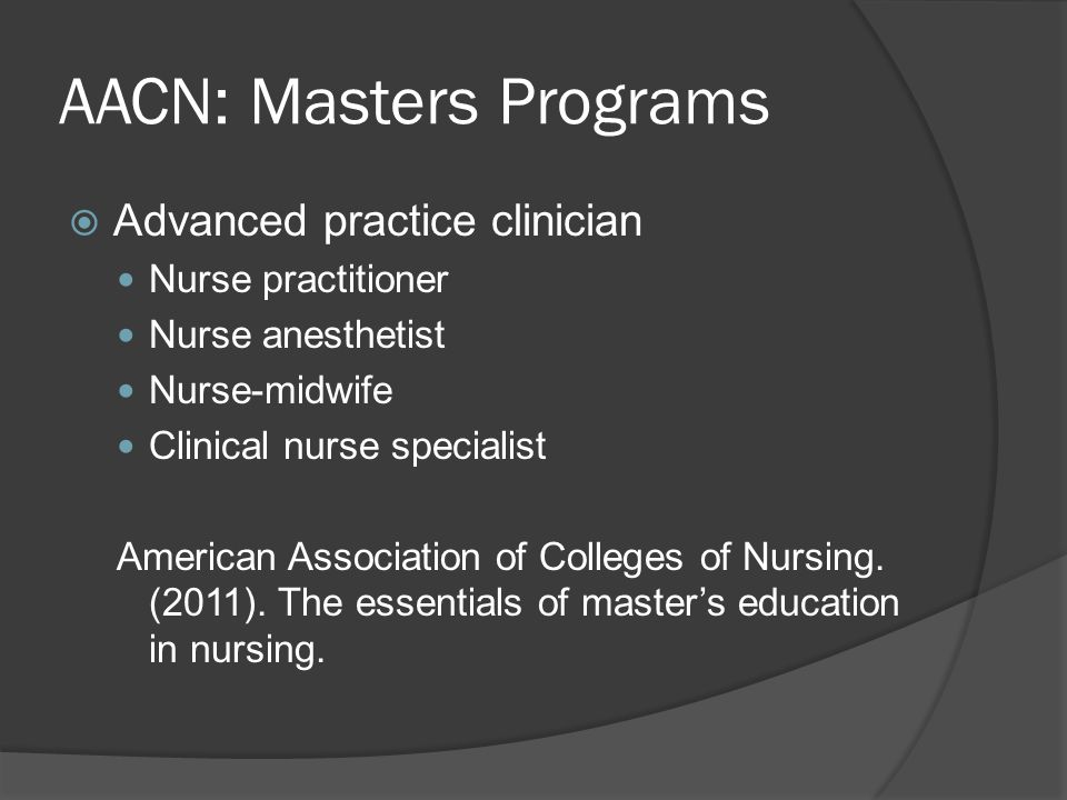 AACN: Masters Programs