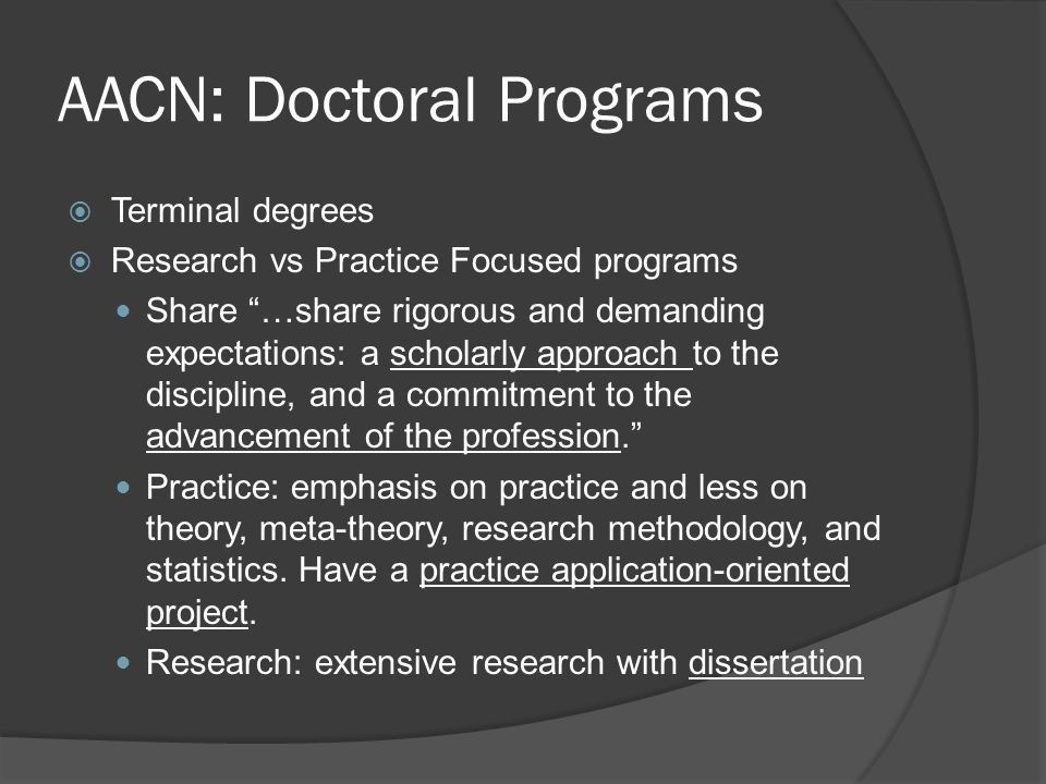 AACN: Doctoral Programs