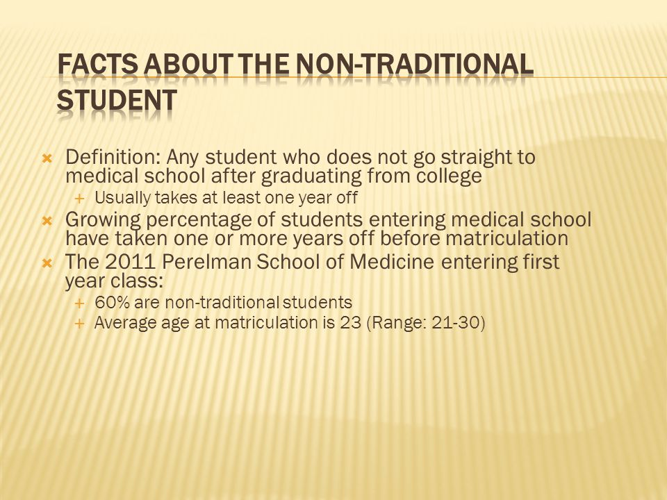Facts about the Non-Traditional Student