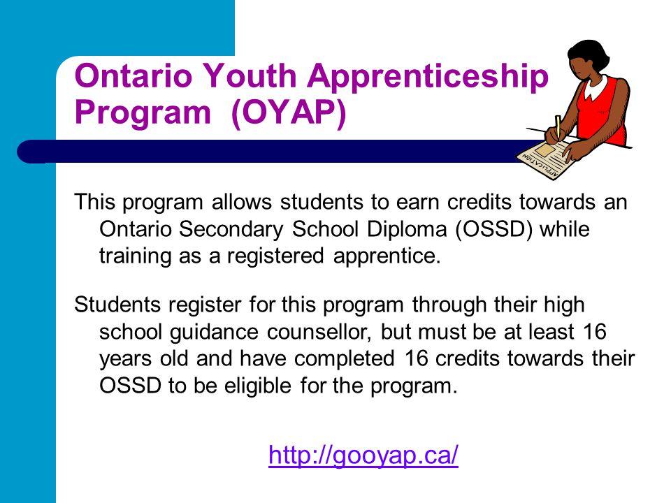 Ontario Youth Apprenticeship Program (OYAP)