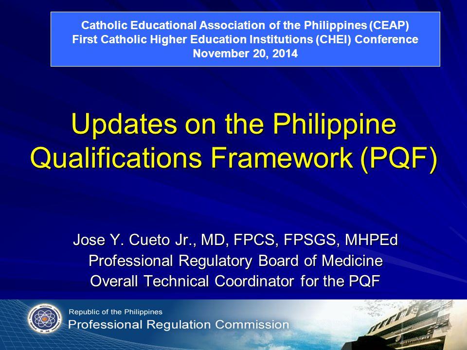 Updates on the Philippine Qualifications Framework (PQF)
