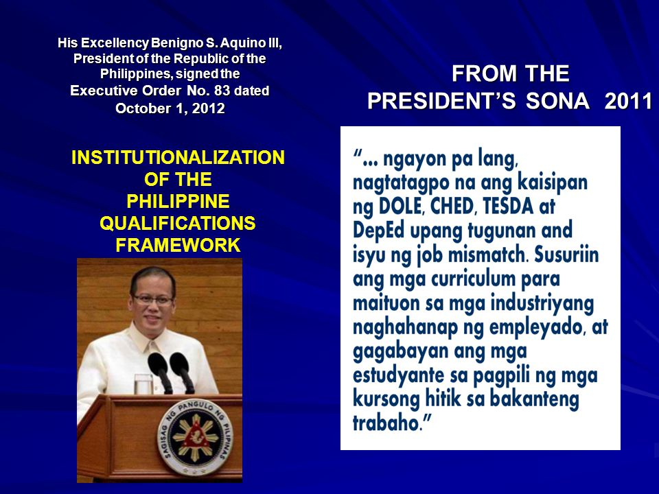 FROM THE PRESIDENT'S SONA 2011