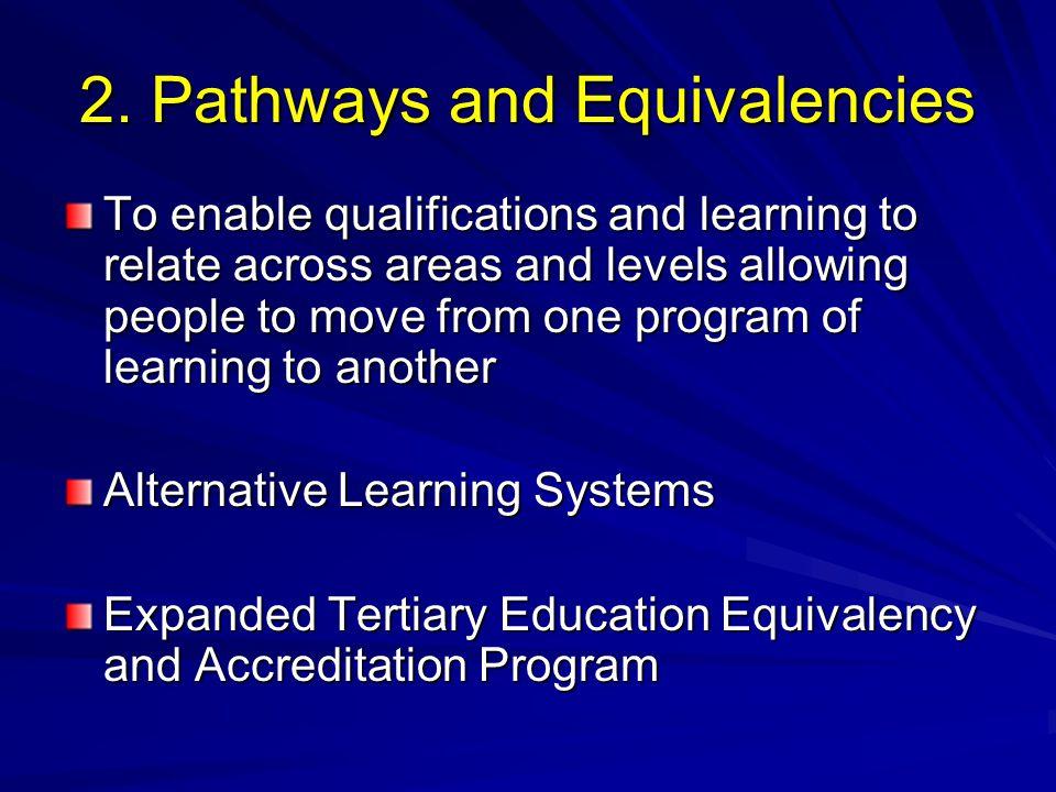 2. Pathways and Equivalencies