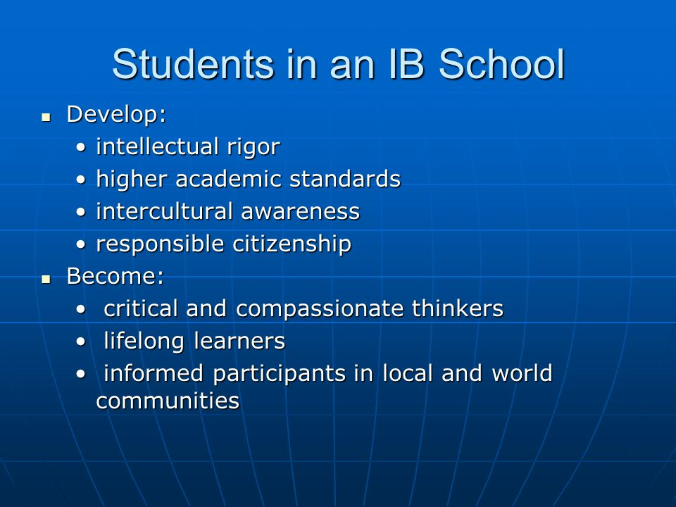 Students in an IB School