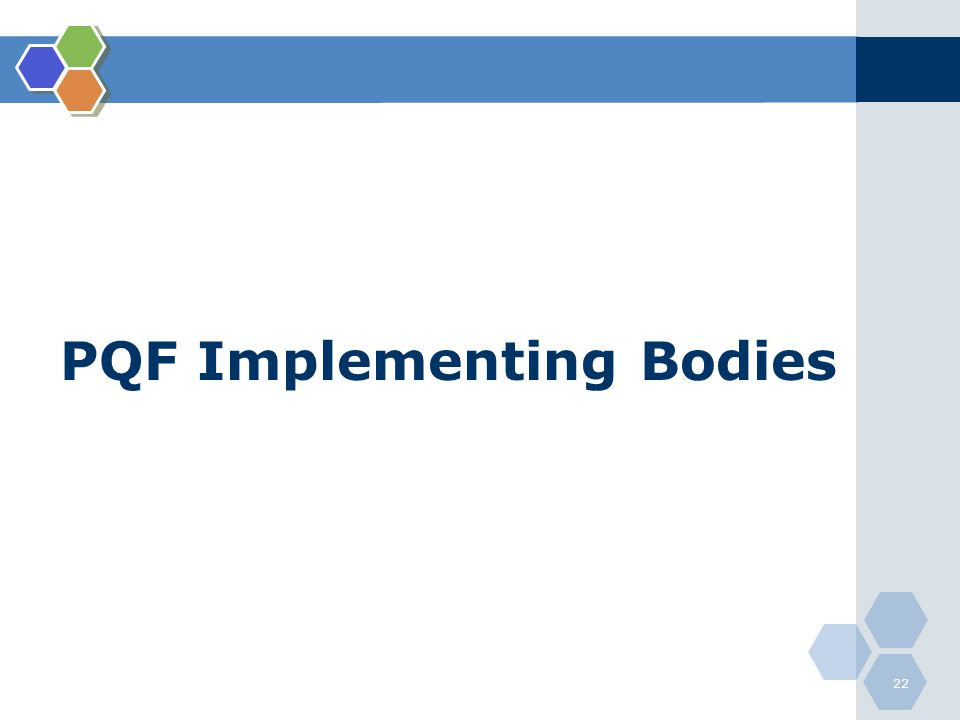 PQF Implementing Bodies
