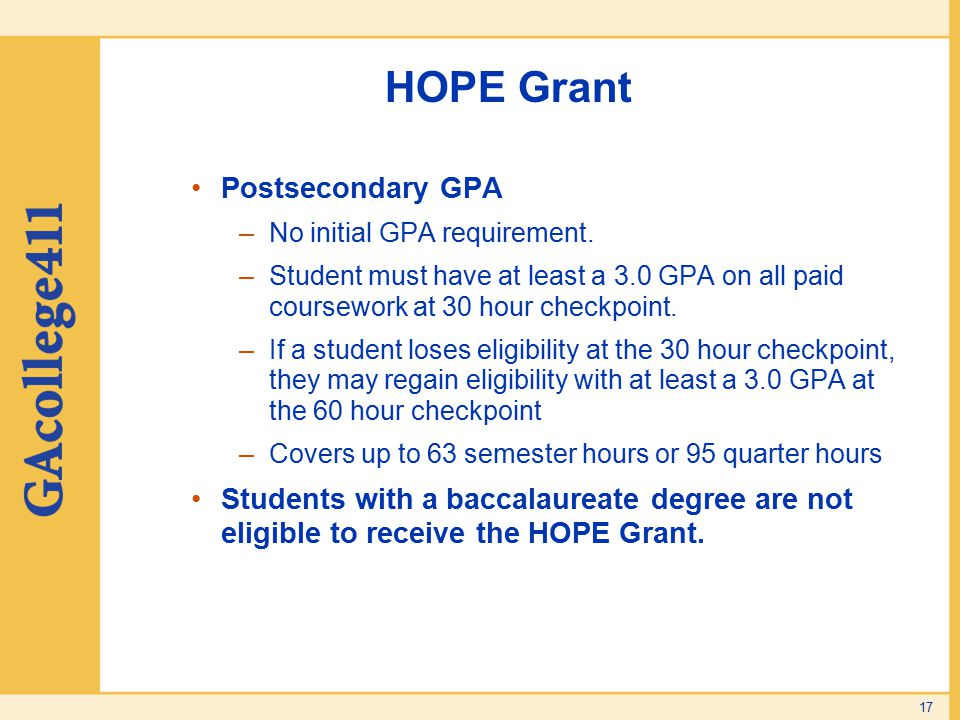 Georgia Student Finance mission ppt