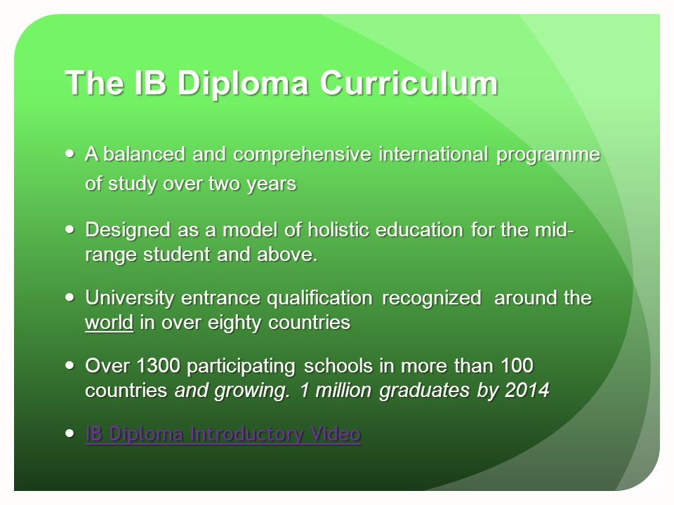 The IB Diploma Curriculum