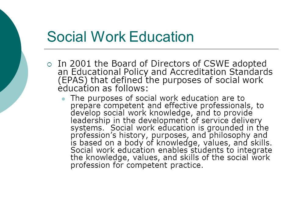 Social Work Education