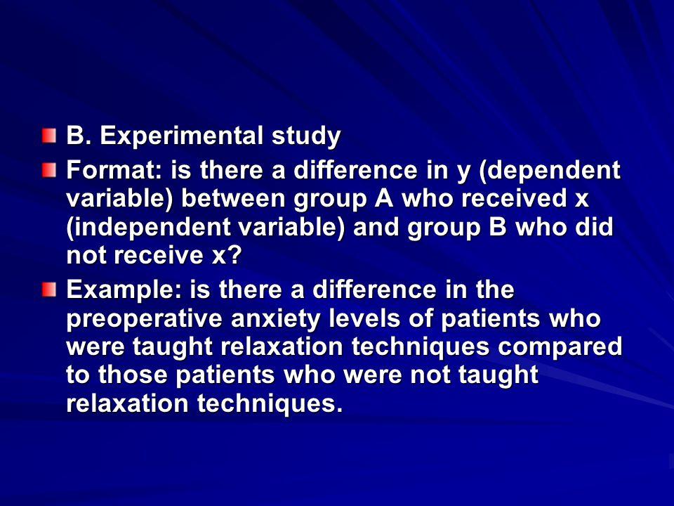 B. Experimental study