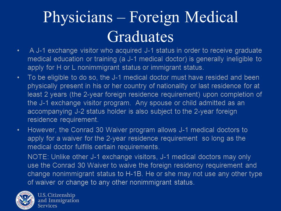 Physicians – Foreign Medical Graduates