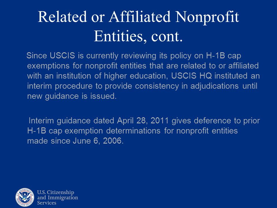 Related or Affiliated Nonprofit Entities, cont.
