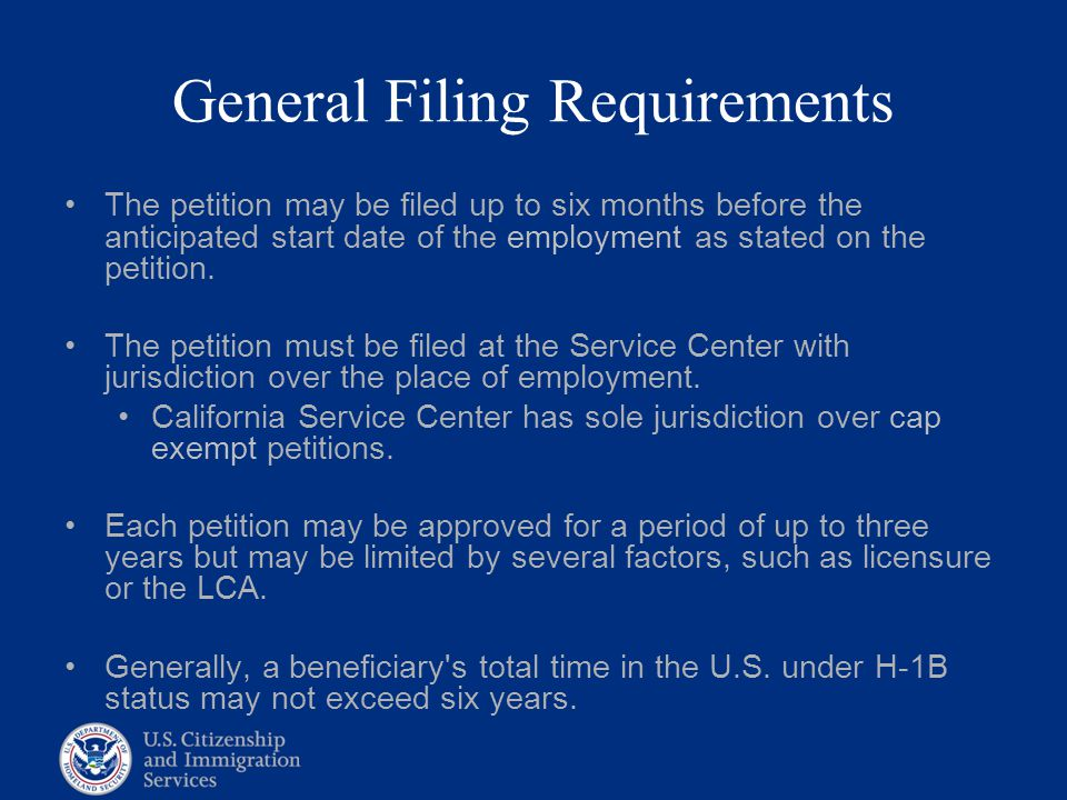 General Filing Requirements