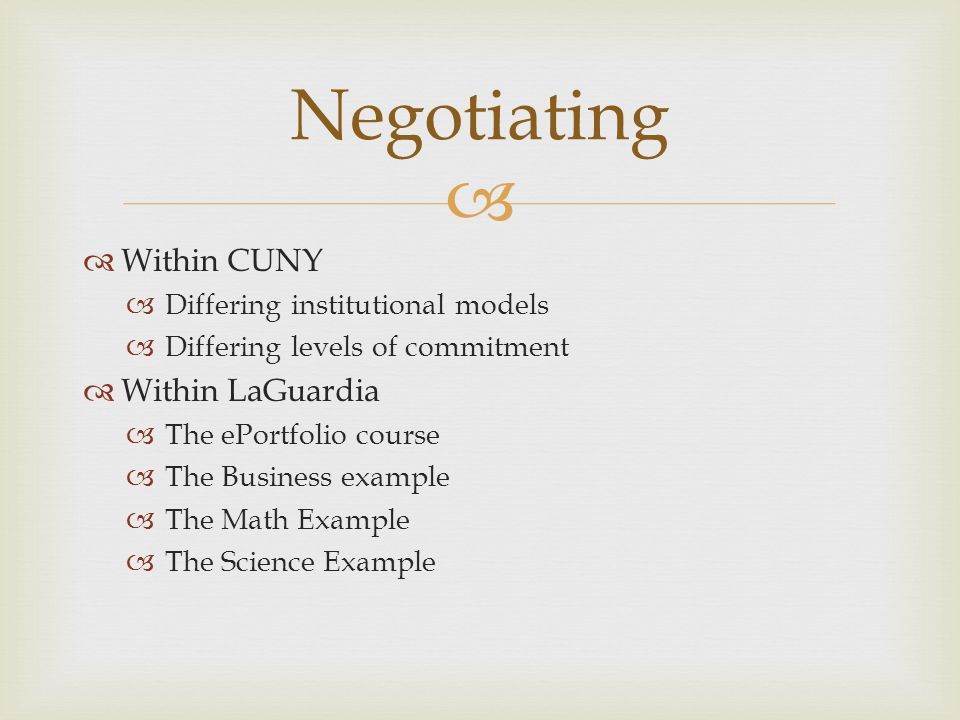 Negotiating Within CUNY Within LaGuardia