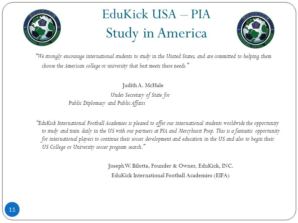 EduKick USA – PIA Study in America