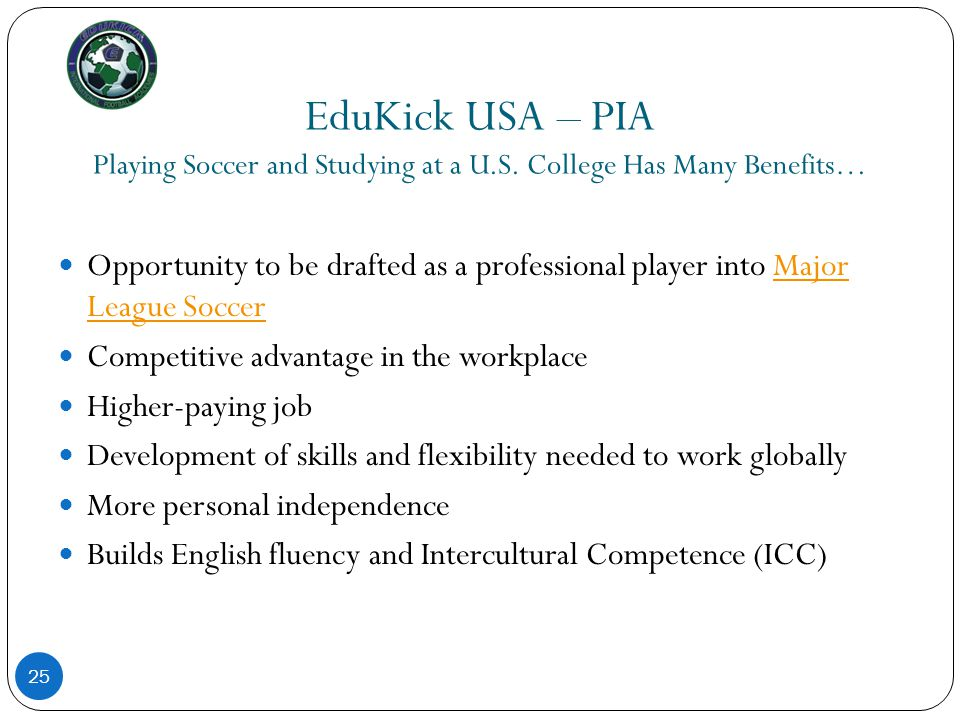 EduKick USA – PIA Playing Soccer and Studying at a U. S