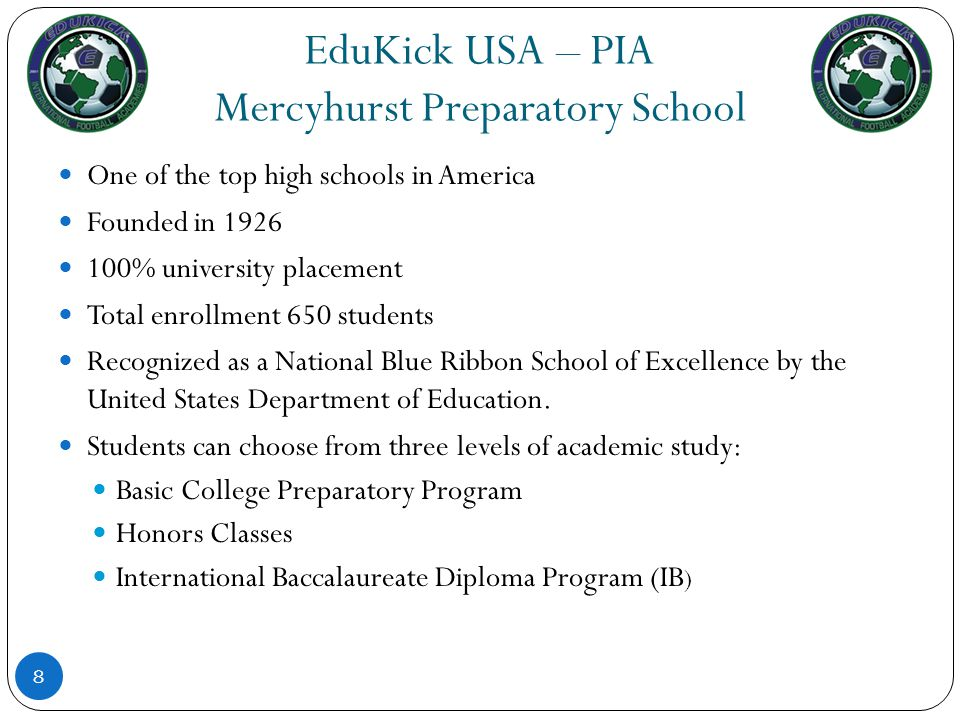 EduKick USA – PIA Mercyhurst Preparatory School