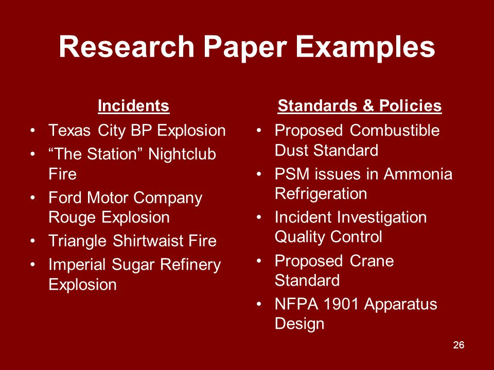 Research Paper Examples
