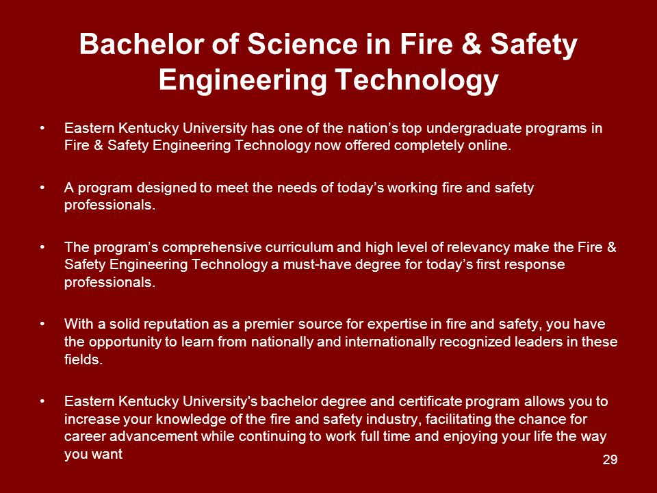 Bachelor of Science in Fire & Safety Engineering Technology