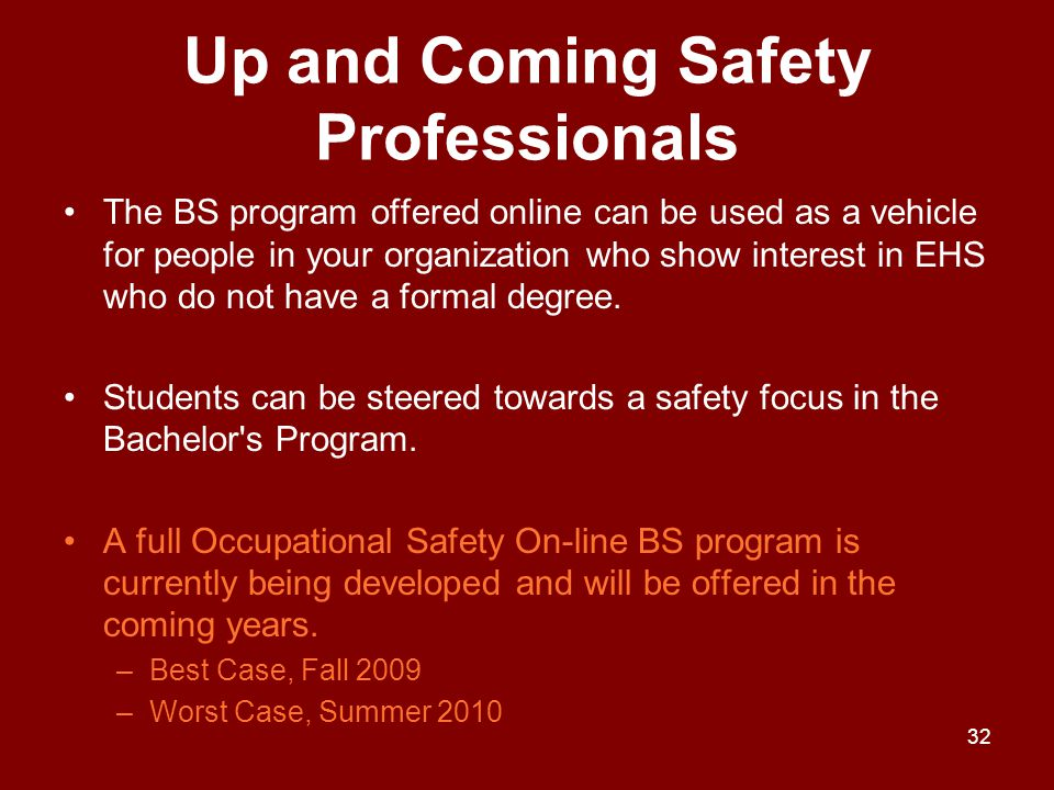 Up and Coming Safety Professionals