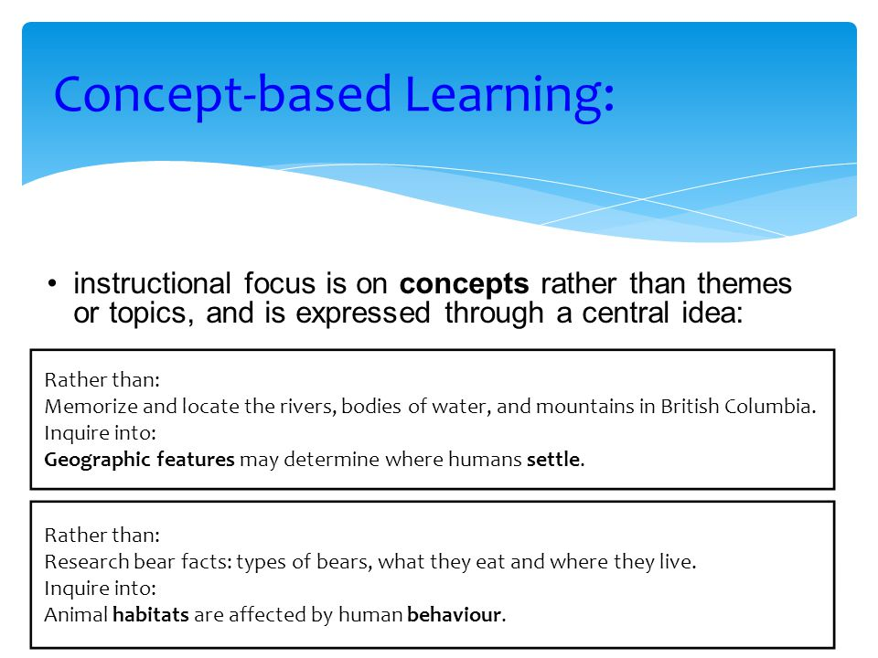 Concept-based Learning: