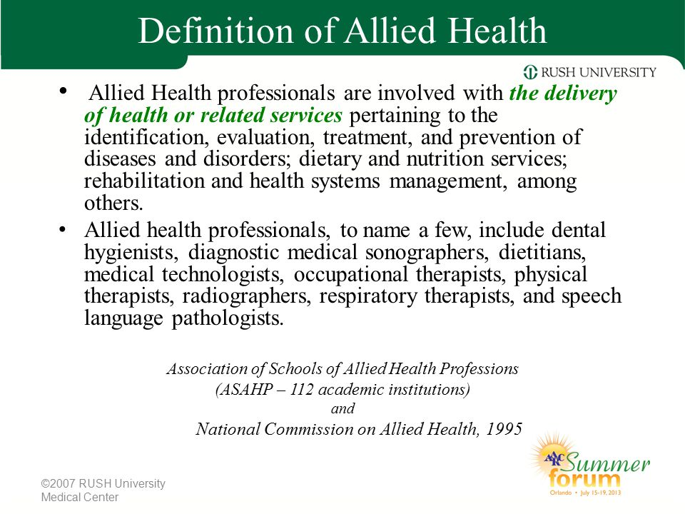 Definition of Allied Health