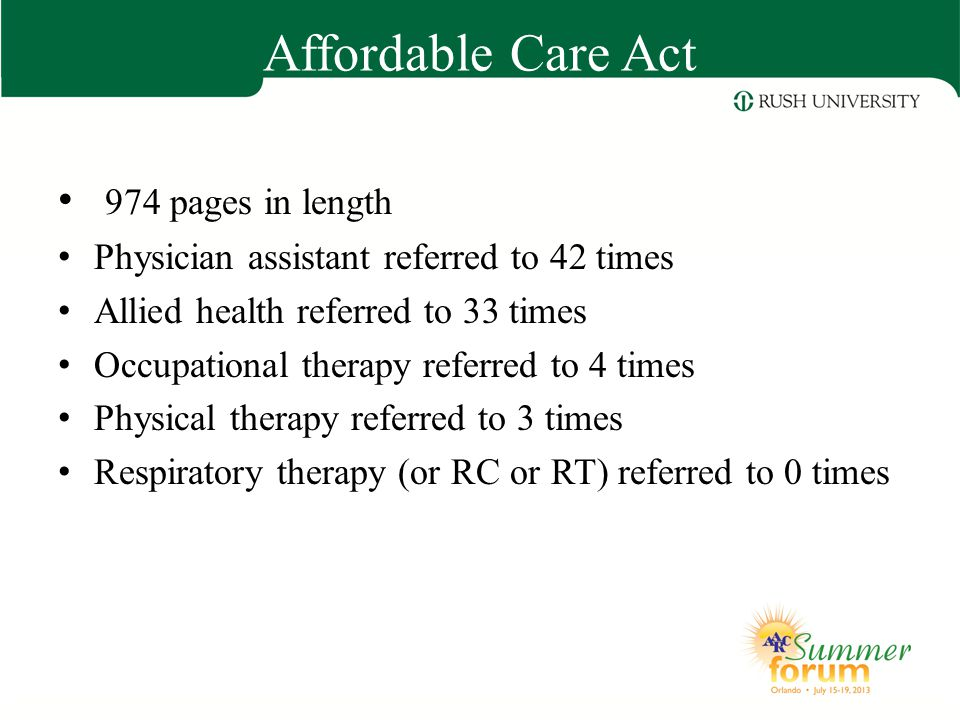 Affordable Care Act 974 pages in length