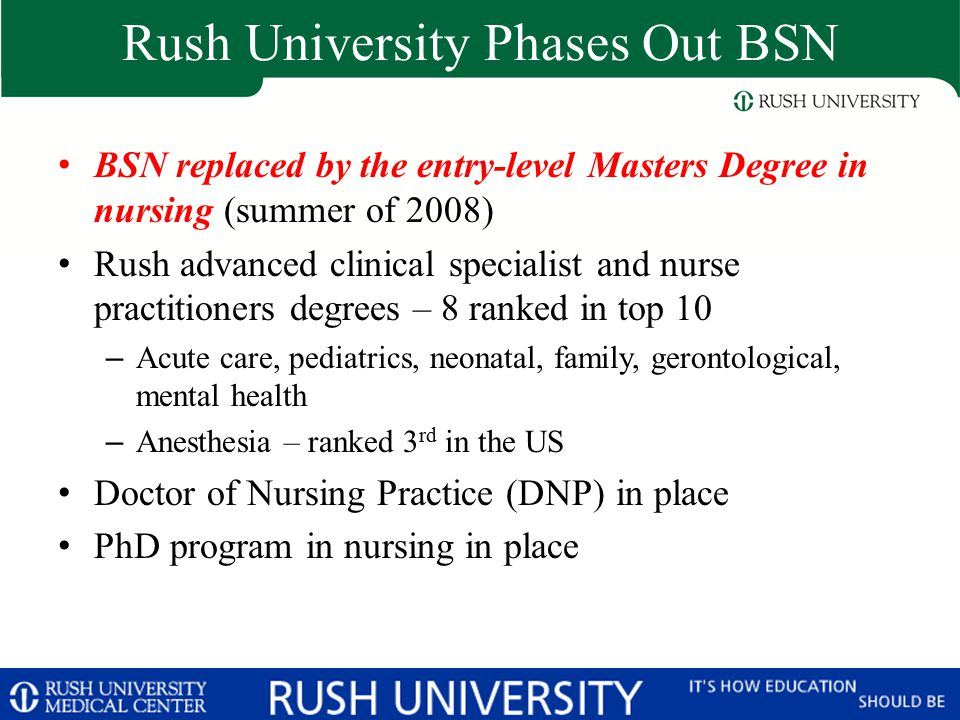 Rush University Phases Out BSN