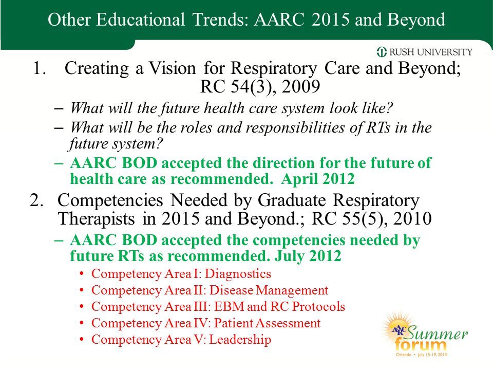 Other Educational Trends: AARC 2015 and Beyond