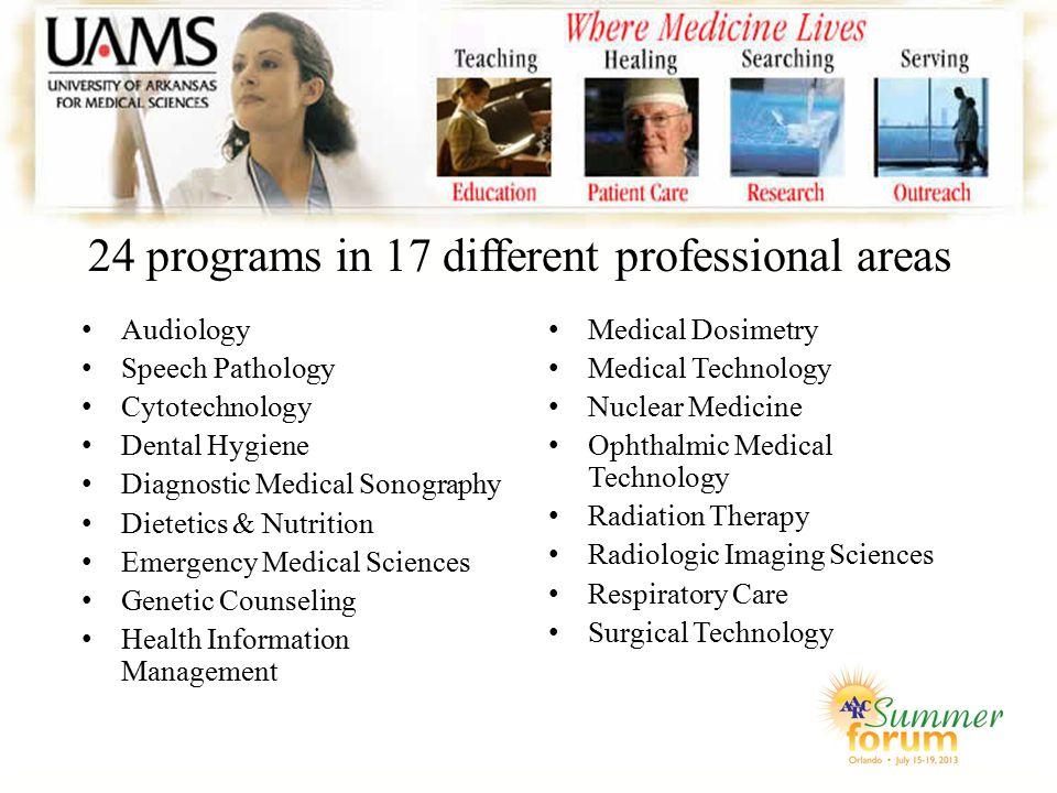 24 programs in 17 different professional areas