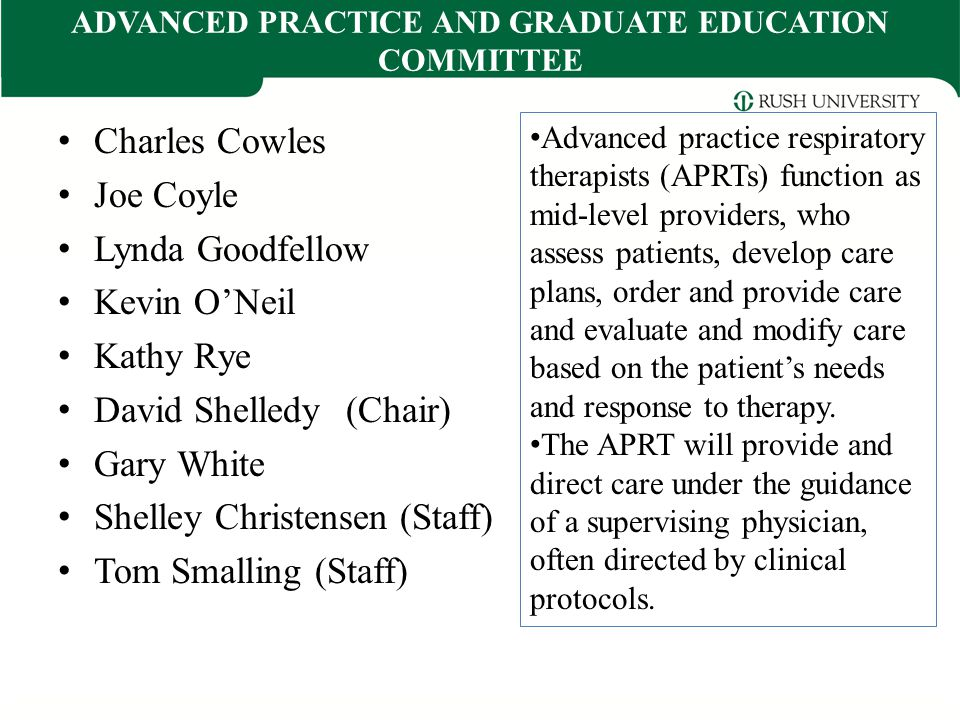 ADVANCED PRACTICE AND GRADUATE EDUCATION COMMITTEE